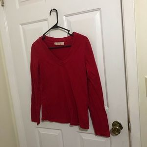 5/$45 NOBO Size Large (11-13) Red Long Sleeve Top